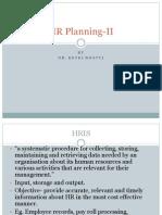 HR Planning II