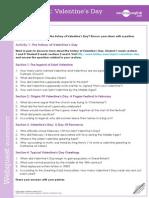 Valentines Day Webquest Worksheet