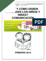 Qué y cómo deben aprender los niños y niñas en el Área de Comunicación