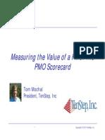 Project Managment Office -PMO Scorecard Webinar