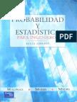 Probabilidad y Estadistica Para Ingenieros - Ronald E. Walpole y Raymond H. Myers