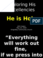 05-24-2009 Exploring His Excellencies - His Holiness