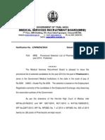 Pharmacist Recruitment List 17-02-2014