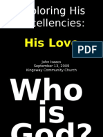 09-13-2009 Exploring His Excellencies - His Love