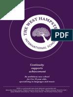 The West Hampstead International School Prospectus