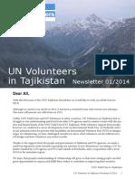 2014 UNV Tajikistan Newsletter - January