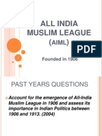 2. Presentation on All IndiaMuslim League