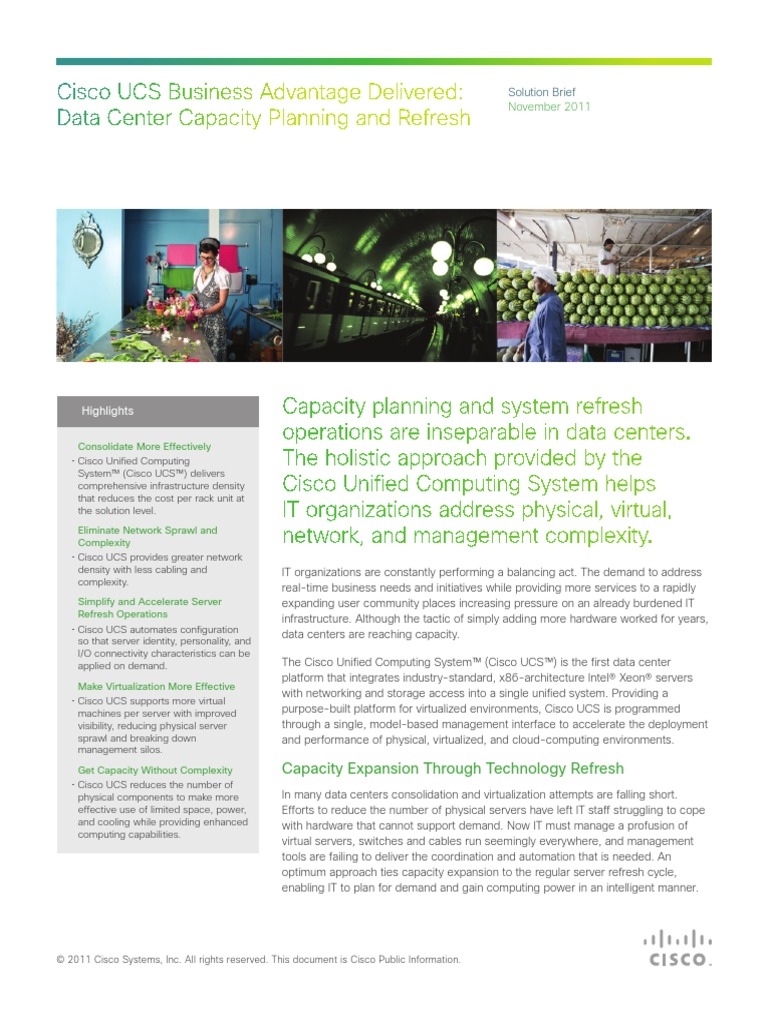 Dc Capacity Planning Ucs Business Delivered | Data Center