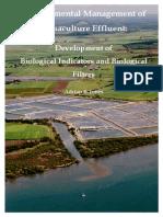 Environmental Management of Aquaculture Efluente. Development of Biological Indicators and Biological Filters
