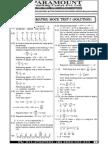 Ssc Mains (Maths) Mock Test-7 (Solution)