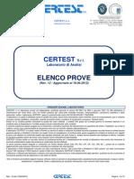 Elenco Prove Laboratorio Certest Srl Rev12 18.06.12