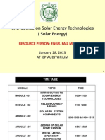 Solar Energy CPD Course One Day
