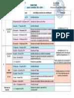 Structura anului 2013-2014