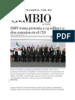17-02-2014 Diario Matutino Cambio de Puebla - RMV toma protesta a 14 ediles y a dos concejos en el CIS.pdf