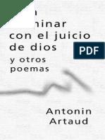 Antonin Artaud - Para Terminar Con El Juicio de Dios