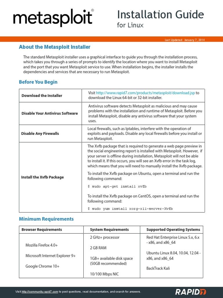 Metasploit Linux Installation Guide | Installation (Computer