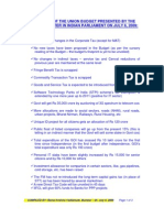 India Budget 2009 10 Highlights Preliminary Rep VRK100 06072009