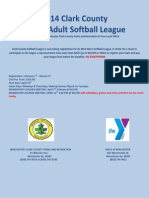 Softball Flyer 2014 Clark County
