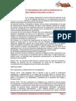 CAPACITACIÓN Y DESARROLLO DE CAPITAL HUMANO DE LA EMPRESA PRODUCTORA DIDA S