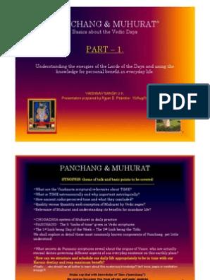 PANCHANG & MUHURAT 1 | Shiva | Time