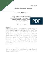 eRep-Review of Airflow Measurement Techniques, LBNL-49747