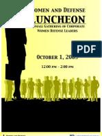Women and Defense October 1, 2009 Program