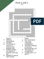 Crossword b Unit 1