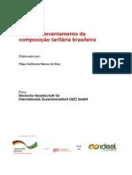 Análise e levantamento da composição tarifária brasileira