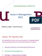 Issues in Management FINAL Lecture 2013-14