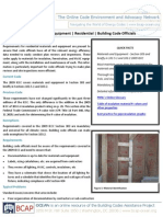 Materials and Equipment Residential Building Code Officials