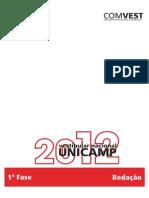 redacao unicamp 2012