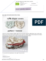 Belly + Baby __ Ruffle Diaper Covers Pattern + Tutorial - See Kate Sew