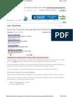 Techie Buzz.com How to Set Timer Automat