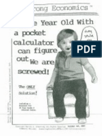 A Three Year Old With a Pocket Calculator Can Figure Out We Are Screwed! 10/1/09