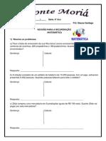 REVISÃO DA  RECUPERAÇÃO 4º ANO MATEMATICA