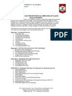 Sales Management Post Graduate Diploma Flyer