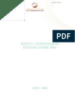 Budget Economique Exploratoire 2014