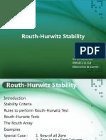 Routh Hurwitz