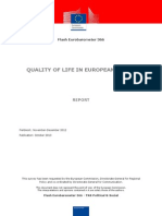 Flash Eurobarometer 366 Quality of Life in European Cities