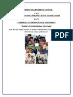 CAPE Caribbean Studies IA -Family