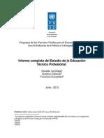 Informe sobre Educación Media Técnico Profesional