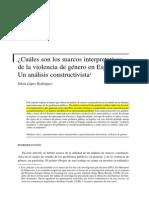 Cuáles son los marcos interpretativos de la violencia de género en España - Un análisis constructivista