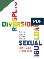 Guía para la acción pública sexual contra la homofobia