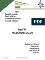 Tema 05 Procesos de Mecanizado