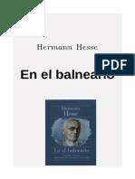 Hesse, Hermann - En El Balneario