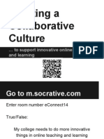 Creating a Collaborative Culture to Support Innovative Online Teaching and Learning (207607065)