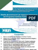 Evaluación Programa Familias Fuertes