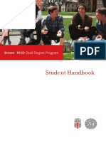 Brown RISD Dual Degree Handbook