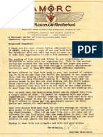 AMORC Cover Letter by Ralph M. Lewis (1924)
