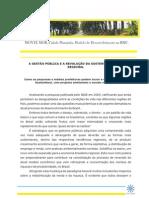 A Gestão Pública e a Revolução da Sustentabilidade Regional